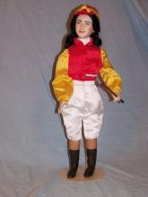 FRANKLIN MINT HEIRLOOM LIZ TAYLOR NATIONAL VELVET PORCELAIN COLLECTOR DOLL 18