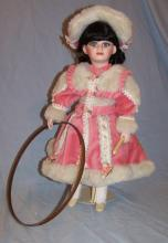 FRANKLIN MINT HEIRLOOM LAURA LEE JANET JOHNSON PORCELIAN COLLECTOR DOLL W/ BOX COA+ 18