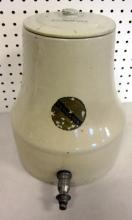 ANTIQUE REVIGATOR STONEWARE RADIUM ORE DISPENSER CROCK W/LID