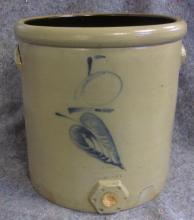 RARE RED WING STONEWARE 5 GALLON SALT GLAZE WATER COOLER SIGNED