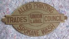 RARE 1912 SPOKANE PRINTERS WAYZGOOSE PICNIC AT SPIRIT LAKE IDAHO DIECUT EVENT PROGRAM