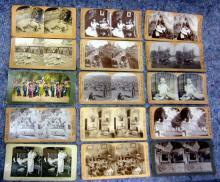 33 ASSORTED STEREOVIEW CARDS WORLD VIEWS UNDERWOOD KILBURN ETC