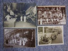 4 EARLY 1900'S SEATTLE MEAT MARKET STREET SCENE ORIGINAL PHOTOS