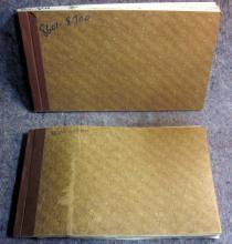 2 VINTAGE GOLD BOND MINING CO SPOKANE CANCELLED STOCK CERTIFICATE BOOKS