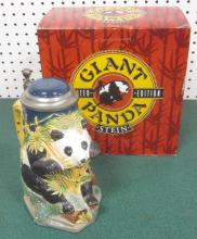BUDWEISER LIMITED EDITION GIANT PANDA STEIN W/ ORIGINAL BOX