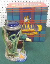 BUDWEISER MALLARD IN THE CATTAILS LIMITED EDITION STEIN W/ ORIGINAL BOX