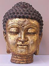 Bronze Buddha Bust