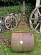 A large garden roller by Ransomes