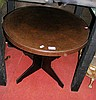 A 60cm diameter Bakelite low occasional table
