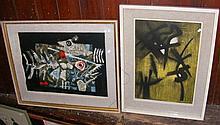 CLAVE - 50cm x 70cm - coloured lithograph - signed
