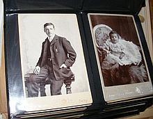 An album of approx. 100 cabinet portrait Victorian