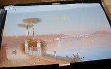 Neapolitan School - 30cm x 46cm - unframed gouache