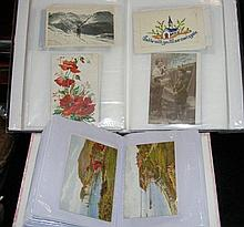 Two albums containing collectable greetings cards