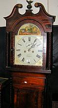 A 19th century Isle of Wight longcase clock, the