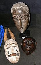 A mounted African mask