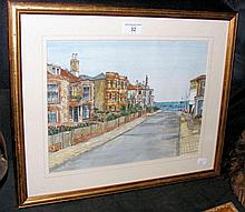 Watercolour of Seaview High Street