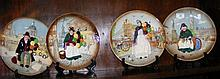 Four Royal Doulton collectors plates, including