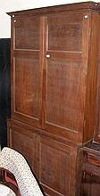 A 19th century panelled bookcase