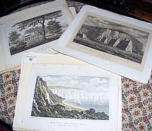 Various old engravings of the Isle of Wight