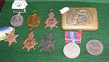 Second World War medals, cigarette case etc.