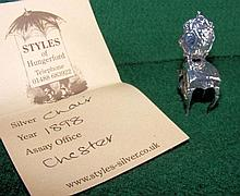 A miniature silver chair - Chester 1898