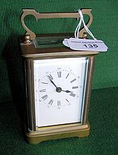 French brass cased carriage clock