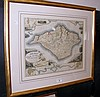 BRANNON - an antique map of the Isle of Wight -