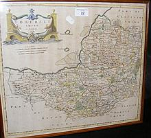 ROBERT MORDEN - an antique hand coloured map of