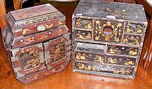A Japanese jewellery box and one other