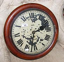 A 19th century Isle of Wight fusee wall clock with