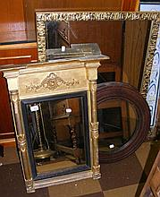 A Regency hall mirror, together with two others