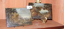 Two small oil on boards - Flemish scenes