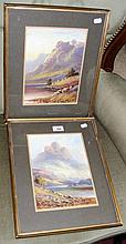 A pair of oils of a Scottish loch - signed