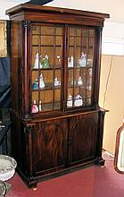 A Georgian mahogany bookcase with glazed upper