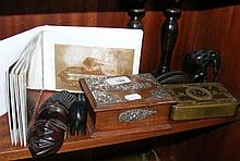 Various collectables, including old postcards,