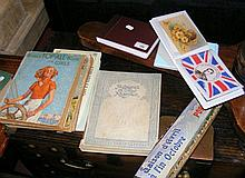 Various collectable books, postcards, etc.