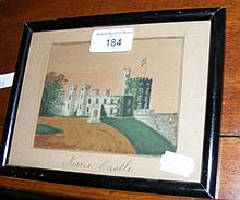 An antique sand picture of Norris Castle