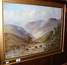 JAMIESON - an oil on canvas of Highland scene