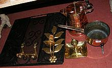 Various collectable metalware, including Victorian