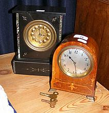 Antique mantel clock and one other