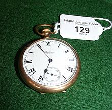 A gent's Waltham pocket watch with separate second