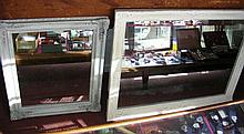 Two antique painted wall mirrors