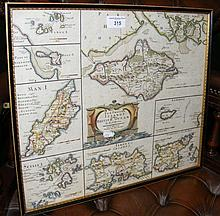 An antique ROBERT MORDEN hand-coloured map of