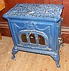 A French blue enamel antique stove