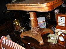 A William IV fold-over tea table