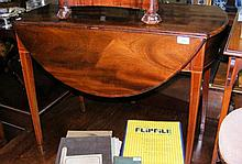An antique Pembroke table with single drawer to