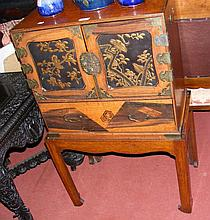 An early 20th century Japanese table cabinet