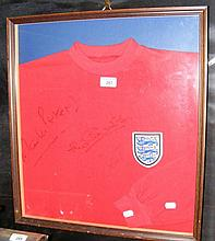 A 1966 World Cup England replica football shirt
