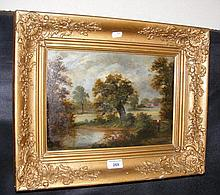 ENGLISH SCHOOL - 19th century landscape scene,