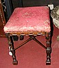 A Chippendale style carved stool